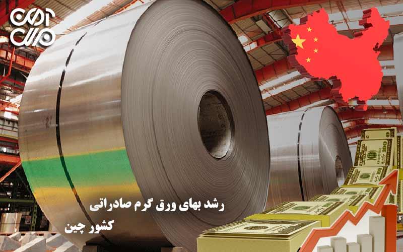 رشد بهای ورق گرم صادراتی کشور چین