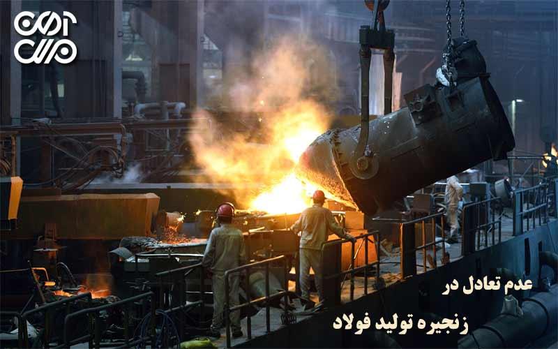 عدم تعادل در زنجیره تولید فولاد