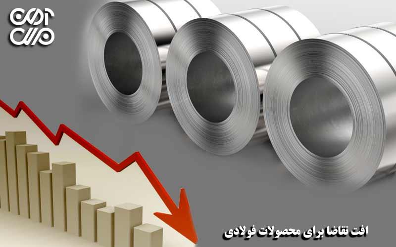 افت تقاضای محصولات فولادی