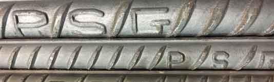 علامت اختصاری  میلگرد پرشین فولاد
