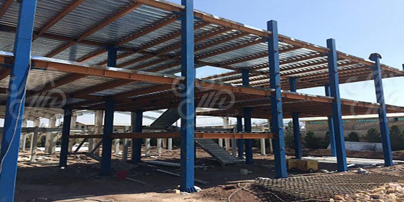 ساخت-اسکلت-فلزی-و-نصب-ستون-فلزی