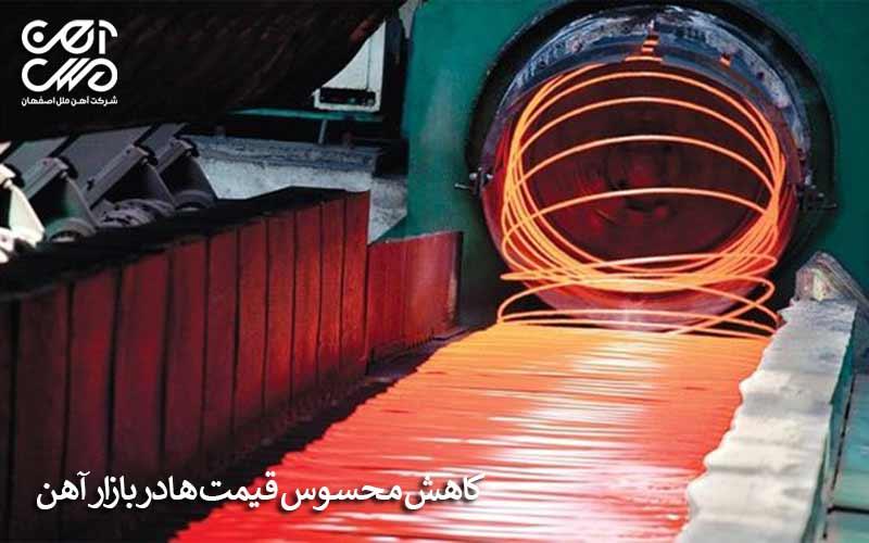 کاهش محسوس قیمت ها در بازار آهن