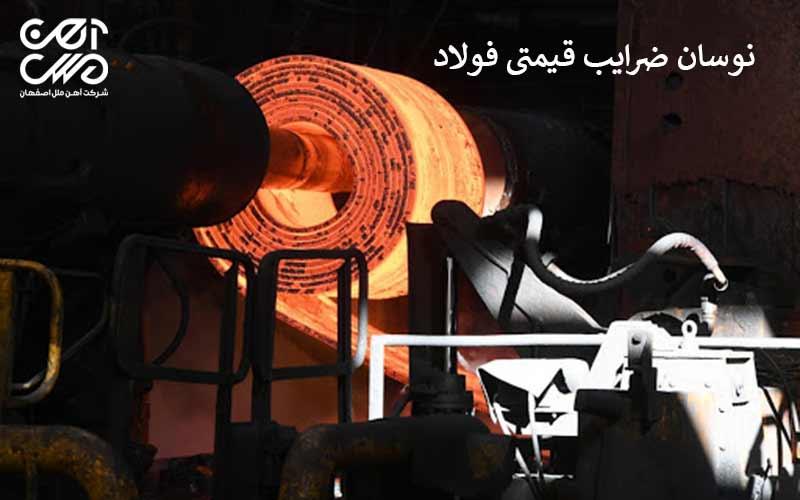 نوسان ضریب قیمتی فولاد