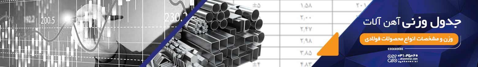 جدول وزنی آهن آلات
